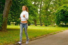 Running girl Royalty Free Stock Image