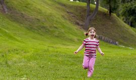 Running Girl Royalty Free Stock Photos