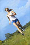 Running girl Royalty Free Stock Photo