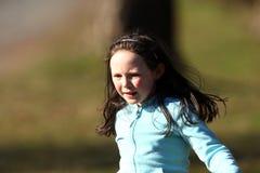 Running girl. Royalty Free Stock Photo