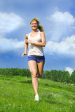 Running girl Stock Photography