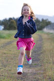 Running girl Stock Image