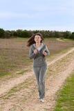 Running girl. Stock Photos
