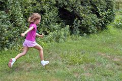 Running girl Stock Photos