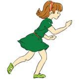 Running girl. Game Dress Childhood. Vector illustration Stock Images