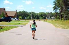 Running girl stock images