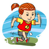 Running Girl Royalty Free Stock Photography