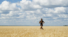Running girl Royalty Free Stock Image