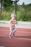 Running girl Stock Image