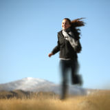 Running girl outdoor Stock Photos