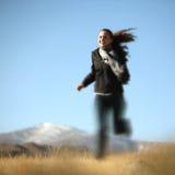 Running girl outdoor stock photos