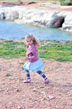 Running girl. With a pony tail Royalty Free Stock Photo