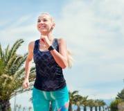 Running girl portrait Stock Photography
