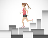 Running Girl Royalty Free Stock Images