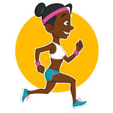 Running girl. Vector illustration. healthy lifestyle Royalty Free Stock Photo