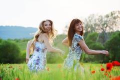Running girls Royalty Free Stock Images