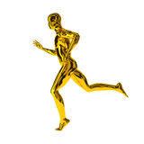Running golden sports man Royalty Free Stock Photography