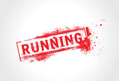 Running grunge text Royalty Free Stock Photo