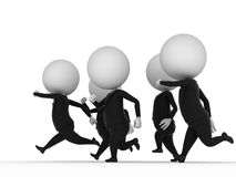 Running guys. 3d rendered illustration of guys in suits running Vector Illustration