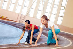 Running in gym Royalty Free Stock Image