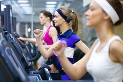 Running in gym Royalty Free Stock Images