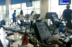 Running at the gym Royalty Free Stock Photo