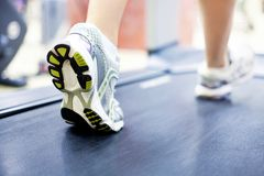Running in gym Stock Photo