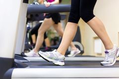 Running in gym Stock Photography
