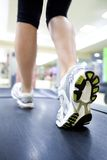 Running in gym Royalty Free Stock Photography