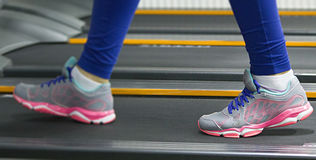 Running at the gym Royalty Free Stock Image