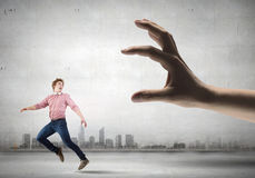 Running from hand Royalty Free Stock Photos