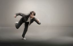 Running handsome men Royalty Free Stock Photography