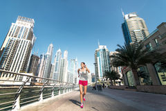 Running and Health. Athlete runs and makes the workout. Athletic Royalty Free Stock Photo