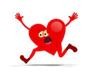 Running heart Stock Photo