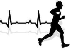 Running heartbeat Stock Photography