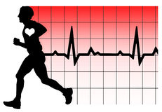 Running heartbeat Royalty Free Stock Images