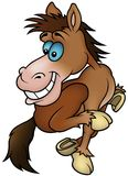 Running Horse. Cartoon illustration as detailed Royalty Free Stock Photo