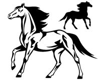 Running horse vector Stock Photos