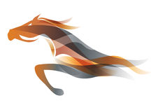 Running horse. Royalty Free Stock Photography