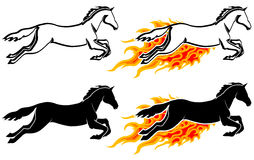 Running horse in flame Royalty Free Stock Photography