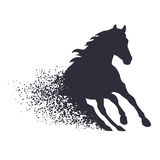 Running horse in the grunge style Royalty Free Stock Photos