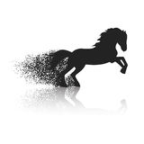 Running horse in the grunge style Stock Photo