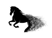 Running horse in the grunge style Royalty Free Stock Photography
