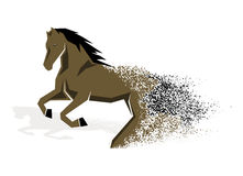 Running horse in the grunge style Royalty Free Stock Image