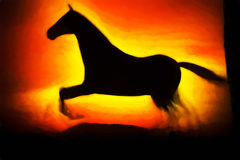 Running horse illustration background Stock Image