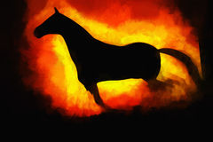 Running horse illustration background Royalty Free Stock Photos