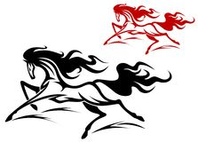 Running horse tattoo Stock Photo