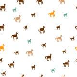 Running horses hand drawnseamless pattern royalty free illustration