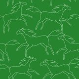Running horses seamless pattern Stock Images