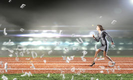 Running in a hurry! Stock Photography